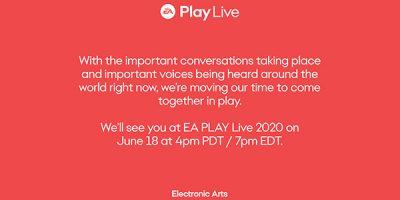 EA Play Live 2020 – június 18-ára tolják