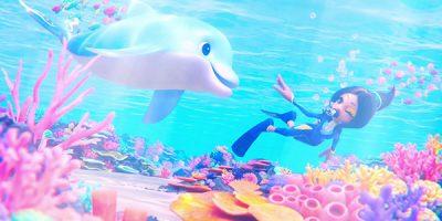 Balan Wonderworld – videón a delfin és a búvár